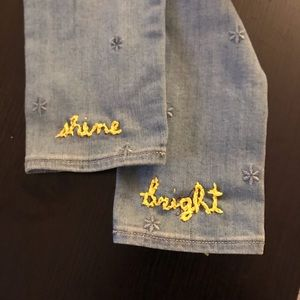 Cutom embroidered jeans ✨shine bright✨